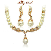 jewelry sets african beads18K gold austrian crystal fashion necklace earrings jewellery  wedding women bridal gift set jewelry(China (Mainland))