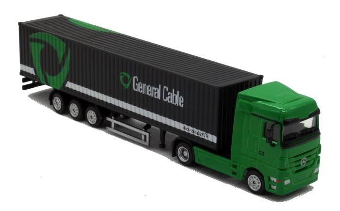 1:87 Modern Brinquedos GENERAL CABLE Cargo Truck Die Cast Metal Car Model Kids Toys Men Gift Collection(China (Mainland))