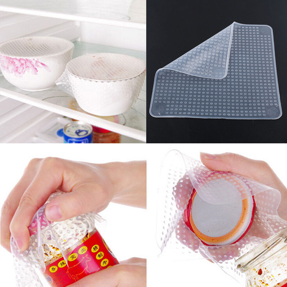 Silicone Wrap Seal Cover Stretch Film Food Fresh Keeping Family Reusable Multifunctional 14.5X14.5cm(China (Mainland))