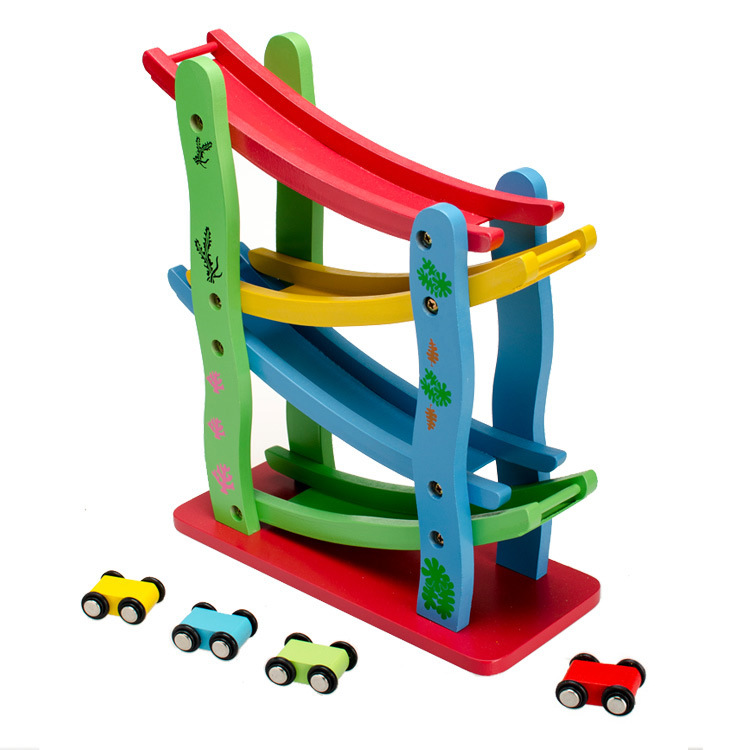 Diecasts Toy Vehicles Kids Toys train Toy Model Cars wooden puzzle Building slot track Rail transit Parking Garage(China (Mainland))