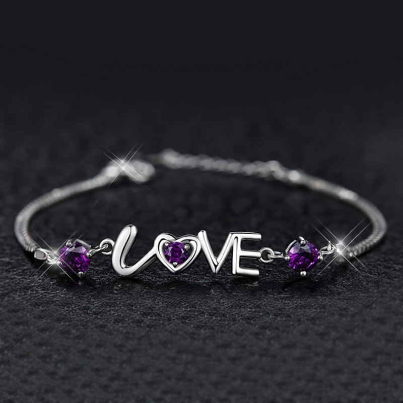 New Fundamental Form 925 sterling silver chain bracelets for girls crystals Love Coronary heart marriage ceremony Bracelets Statement Rings pulseras
