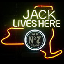 FS Neon Sign Jack Daniels Jack Lives New York Whiskey Beer Bar Handcrafted Real Glass Tube Neon Light Sign 24x20 the Best Offer(China (Mainland))