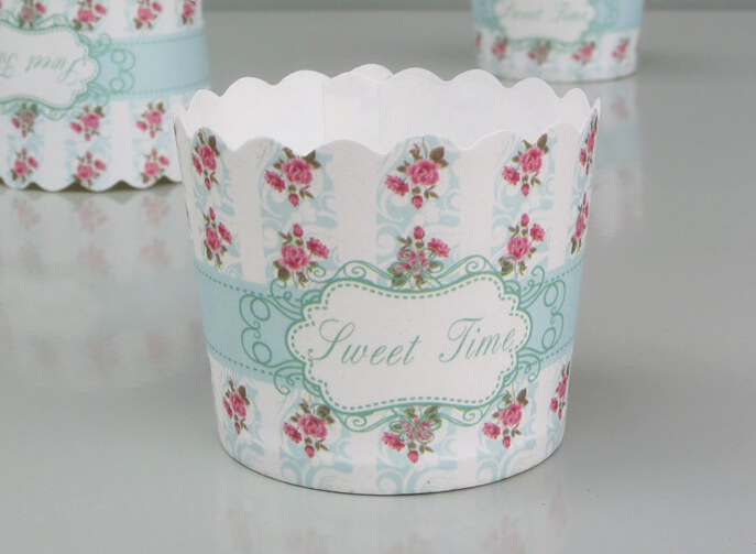 Free shipping 100 pcs cupcake/cakecup liners muffin cases baking window cake boxes small size()