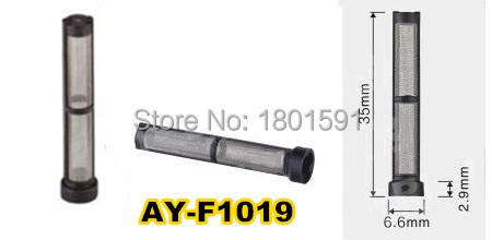 200 pz/set top quality diesel iniettore carburante filtro ricambi auto in acciaio inox mesh strainer (AY-F1019, 35*6.6*2.9mm)(China (Mainland))