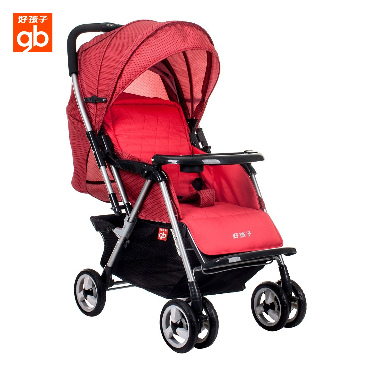 World famous brand gb baby stroller C258W baby carriage can lie down on a portable folding shock absorber Free shipping(China (Mainland))