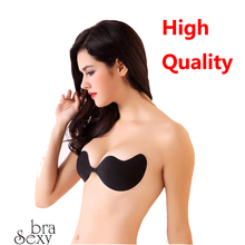 Hot ! High Quality Push Up LIFT Self Adhesive Bras Closure Backless Strapless Invisible Silicone Bra Paste Breathable NuBra(China (Mainland))