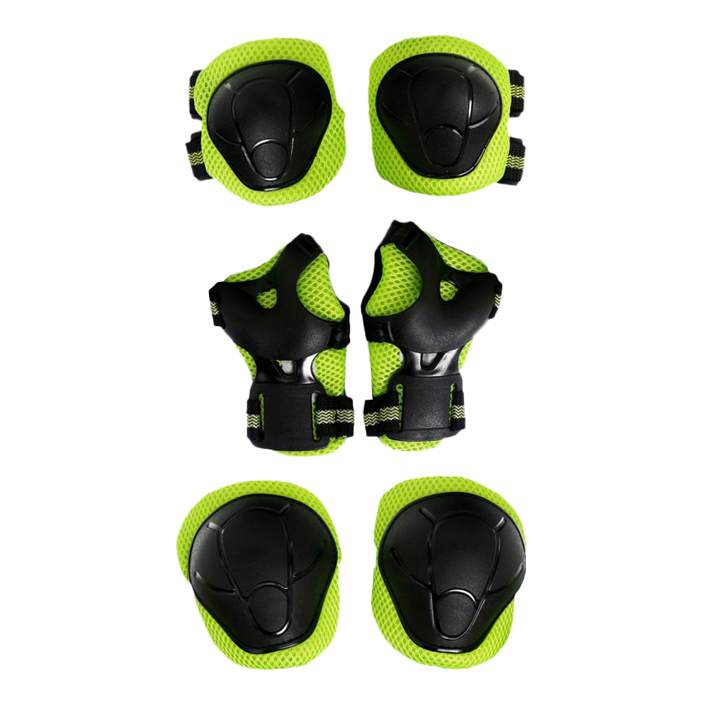 6 Pcs Kid Child Roller Skating Cycling Bicycle Skateboard Helmet Knee Wrist Guard Elbow Pad for Sports Safety Sportswear Access