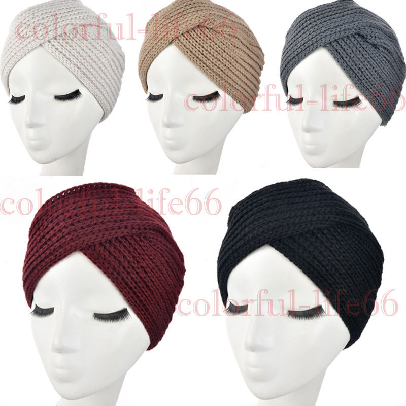 Cable Knitting Patterns For Scarves : knit-Turban-Head-Wrap-Band-twist-headband-Hat-Cap-Chemo-Bandana.jpg