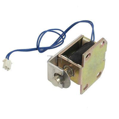 DC 6V 0.3A 2mm 0.2kg First Stroke Push Type Solenoid Electromagnet w Base(China (Mainland))