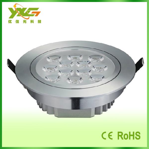 Здесь можно купить  Aluminum Recessed Led spot ceiling downlight panel 12W lamp AC85-265V wholesale Free shipping  Свет и освещение