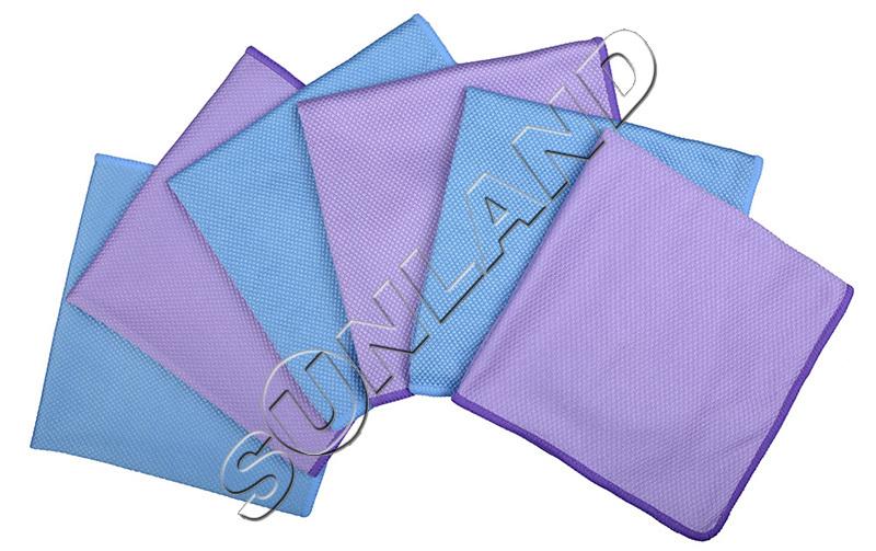 6-pack 40cmx40cm Microfiber Glass Cloth Detailing Towels