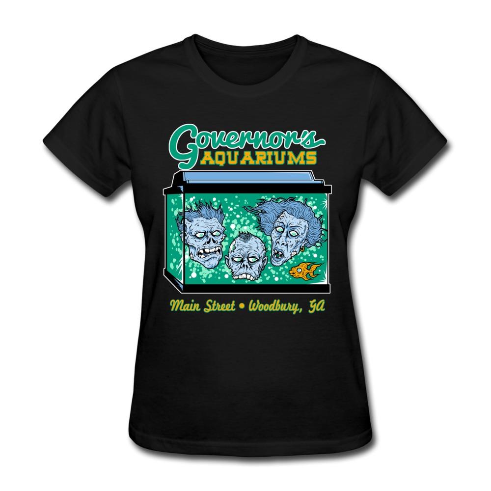 Make Own O Neck T Shirt Women Woodbury Fish Tank Love