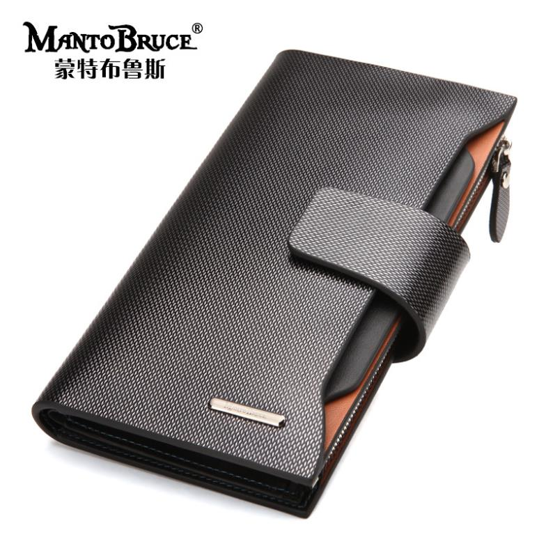 New mens fashion genuine leather Wallets Large Capacity Purse Man classical Multifunctional Long Wallet Business wallet Bag<br><br>Aliexpress