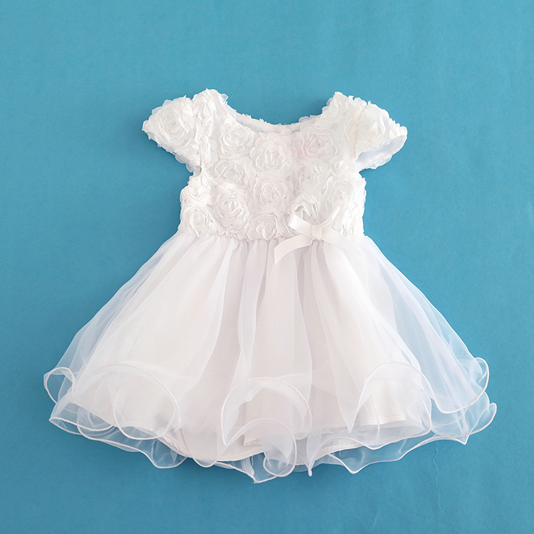 2015 Hot New Born Christening Gown Birthday Wedding Dress Baby Girls Dress Infant White Lace Wedding Baby Dresses Freeshipping(China (Mainland))