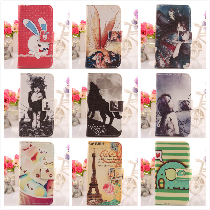 9 Styles Leather PU Skin Moblie Phone Cover Protect Accessory Wallet Pouch With Card Holder Case For Huawei Honor 3C(China (Mainland))