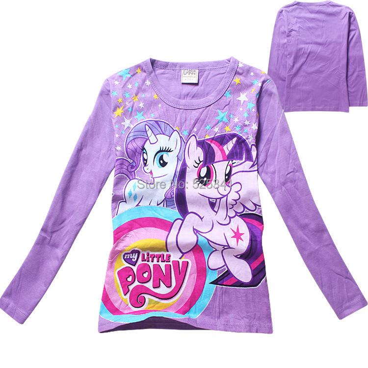 2-9 year kids girls t shirt,2015 new cotton character girl's Long sleeve T-shirt,High quality children's printing t shirts c47(China (Mainland))
