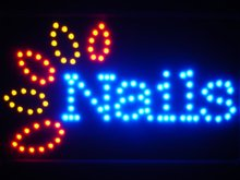 led053-b Nails LED Neon Sign Whiteboard(China (Mainland))