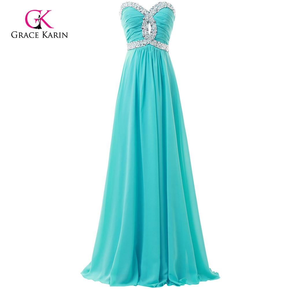 Green blue pink cheap long bridesmaid dress under 50 for Blue green wedding dress