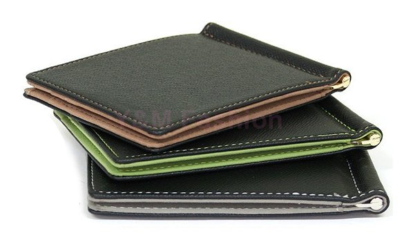 Brand New Men Wallet Short Skin Wallets Purses 2015 Fashion Synthetic Leather Money Clips Sollid Thin Wallet For Men(China (Mainland))