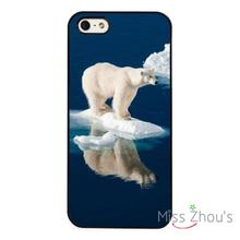 Polar Bear Melting Ice Arctic back skins mobile cellphone cases for iphone 4/4s 5/5s 5c SE 6/6s plus ipod touch 4/5/6