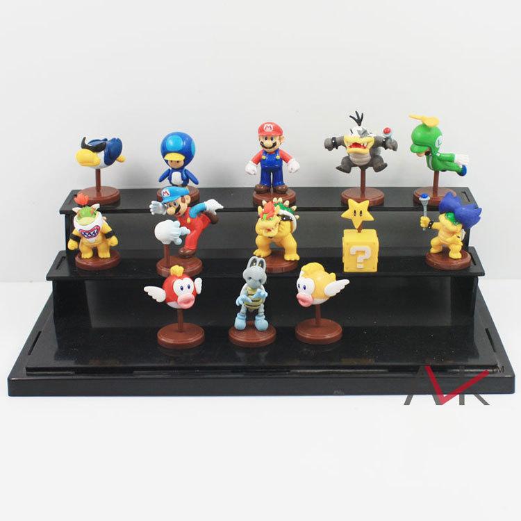 Super Mario Bros Figure Doll Toy 13pcs/set 3cm Koopa Bowser PVC Action figures Collectible Toys(China (Mainland))