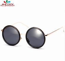 JinCool 2016 Steampunk Round Retro Men Fashion Summer Style Sunglasses Women Brand Designer Vintage Sun Glasses Oculos de sol
