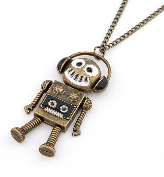 Punk retro kitsch love music quirky dj dance headset robot for Quirky retro gifts