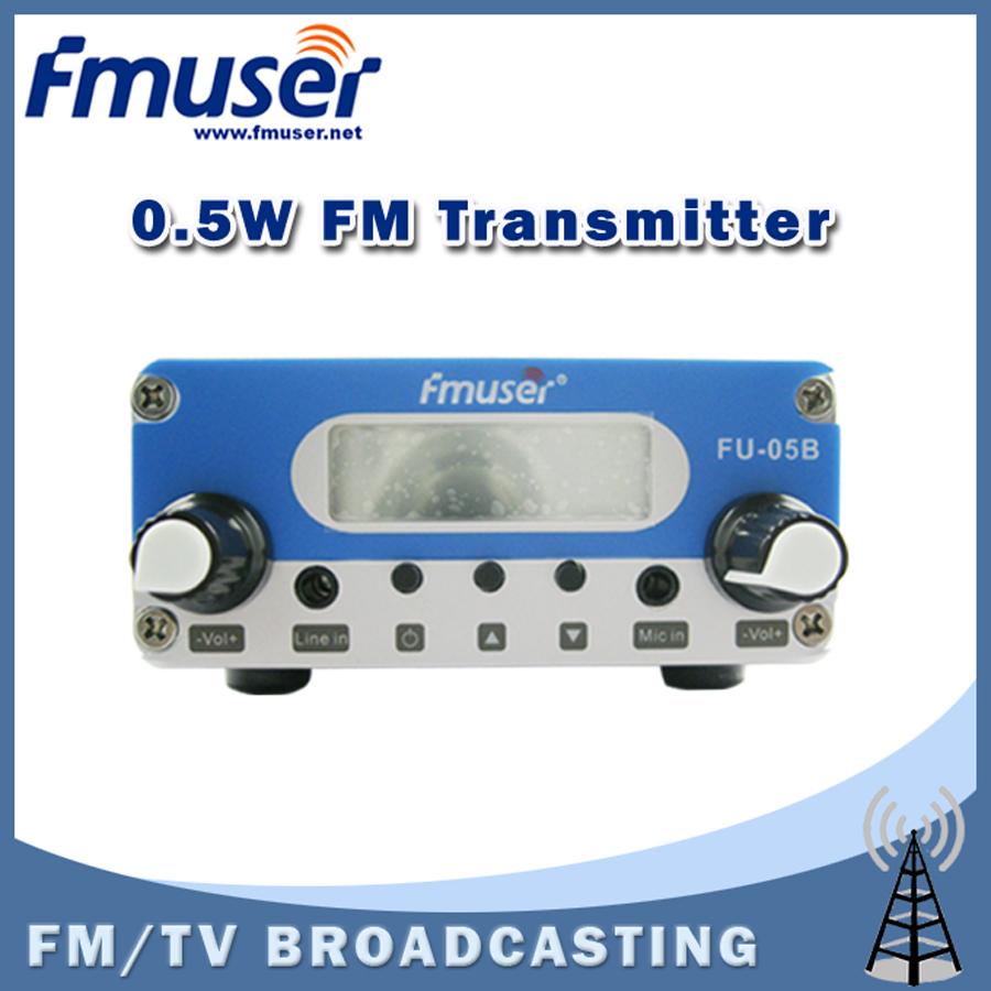 Free shipping FMUSER FU-05B New Design 0.5watt FM PLL transmitter stereo 87 to 108mhz(China (Mainland))