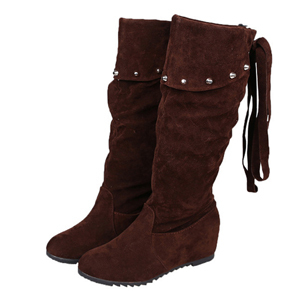 2015 New arrival winter women boots tassel flock long boots round toe winter women shoes fashion mid-calf boots for women XZ113
