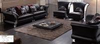 Dark Black Sectional Leather Sofas Living Room LBZ-3080 leather sofa modern sofa Living Room Leather Sofas(China (Mainland))
