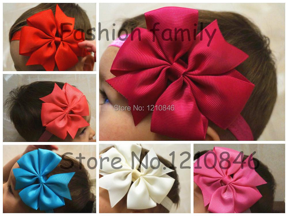 2015 regalos de la navidad del Bowknot de las vendas infantil accesorios para el cabello niñas cinta del grosgrain arco cinta del niño cintas para el pelo
