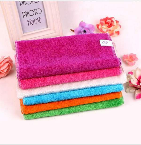 Wholesale 10Pcs high efficient Anti-greasy bamboo fiber Kitchen Dish Towels magic Kitchen cleaning cloth,wipping rags(China (Mainland))