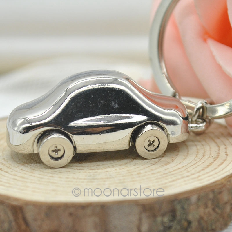 2015 Fashion Alloy Mini Car Model Styling Keychain Cute Versatile Metal Key Ring Chain #50 - Moonar Store store