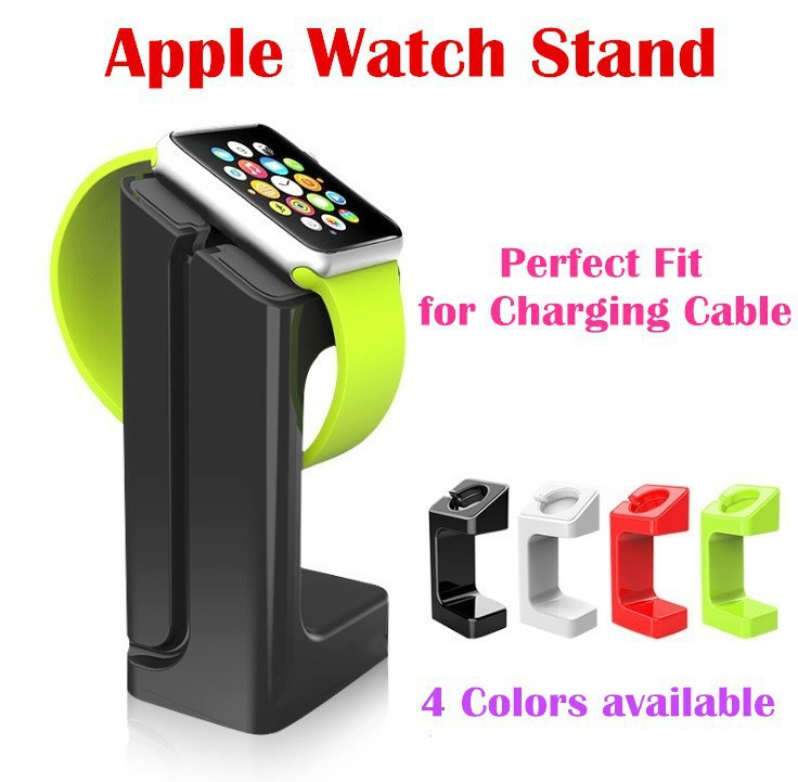 Latest Product 2015 Apple Watch Stand, iWatch Stand Bracket Docking Station Charger Holder for Both 38mm and 42mm(China (Mainland))