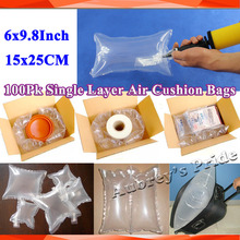 """100Pcs 6x9.8""""(15x25CM) Single Layer Inflatable Air Bag Cushion Packaging Wrap Bubble Bag Shockproof Packing Materials(China (Mainland))"""