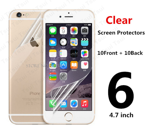"10pcs=5pcs Front & 5pcs Back Protective Film Anti Scratch Clear LCD Screen Protector Guard For iphone 6 4.7"" + Cloth(China (Mainland))"