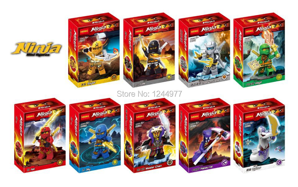 Decool 0077-0085 Green Ninja & The Serpent Lord Model Figure Minifigure Building Block sets Toys Compatible With Lego(China (Mainland))