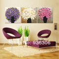 Hand Painted Modern Pictures On Canvas Thickness Abstract Flower Oil Painting No Frame Hang Paintings For