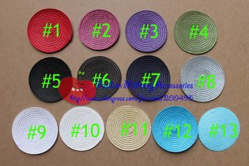 """4.3""""(11cm) PP Round Base Fascinator Base Millinery Acc Dish Cushion Table Mat #13Color"""
