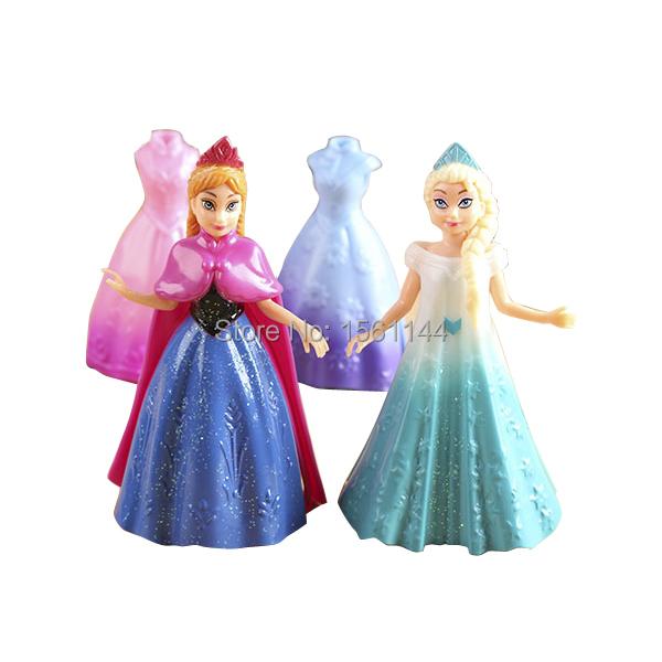 4 pcs lote princesse magiclip elsa anna de arendelle. Black Bedroom Furniture Sets. Home Design Ideas