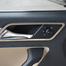 High quality 2015 Volkswagen vw Jetta interior doors handle stainless steel stickers cover decoration trim