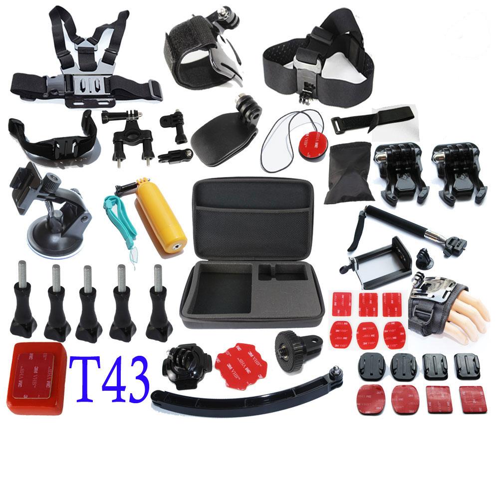 Gopro Accessories Set Hero 4 Sj4000 Kit Chest Belt+Head Band+ L Case +Floating Bobber Monopod Go pro hero3 3+ 4 Camera Mount(China (Mainland))