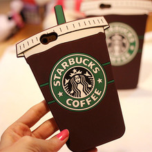 3D Cartoon Starbuck Coffee Cup Soft Silicone Case iphone 4S 4G 5S SE 6 6S 6SPlus 7 7Plus Phone Back Housing Cover Capa - Amy Guo's store