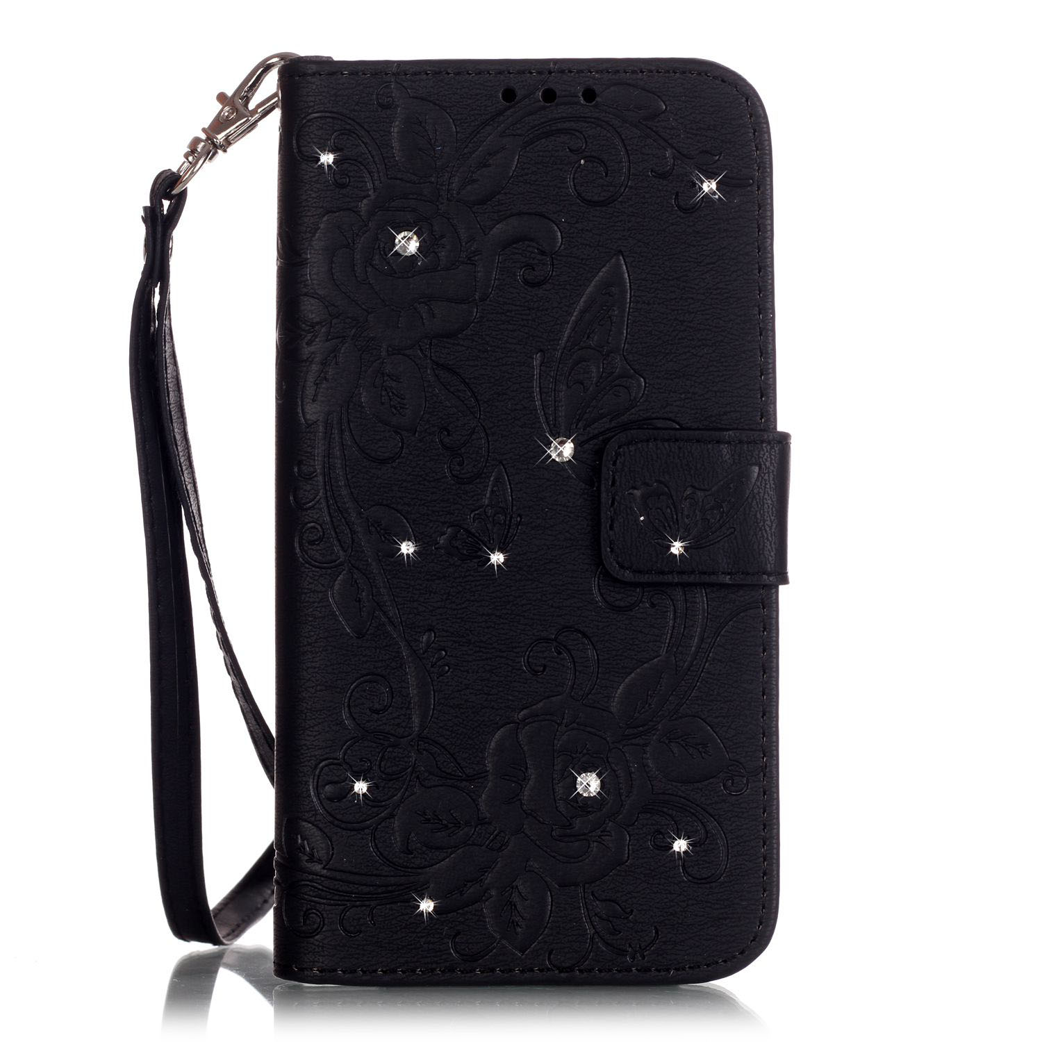 black view luxury diamond Embossing fundas for Samsung Galaxy A3 (2016) A310F phone cases prestigio cell phone Accessory+gift