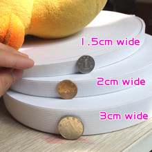 white Elastic band Trim/spandex/sewing/flat/trimming  Sewing Band 44 yards new & clearance roll(China (Mainland))