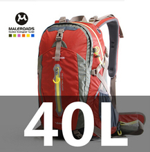 Maleroads Outdoor sport bag travel backpack climbing backpack schoolbag climb knapsack hiking backpack camping packsack 40L(China (Mainland))