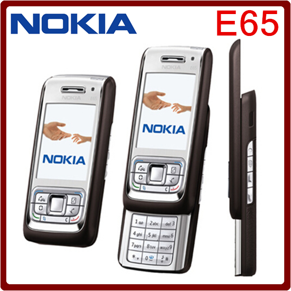E65 Original Nokia E65 Mobile Phone 3G 2MP Unlocked Refurbished Cellphone English Russian Arabic keyboard One year warranty(China (Mainland))