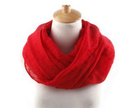 18 Colors Girls and Boys Plain Solid Infinity Scarf Viscose Cotton Baby Kids Loop Scarves Neck