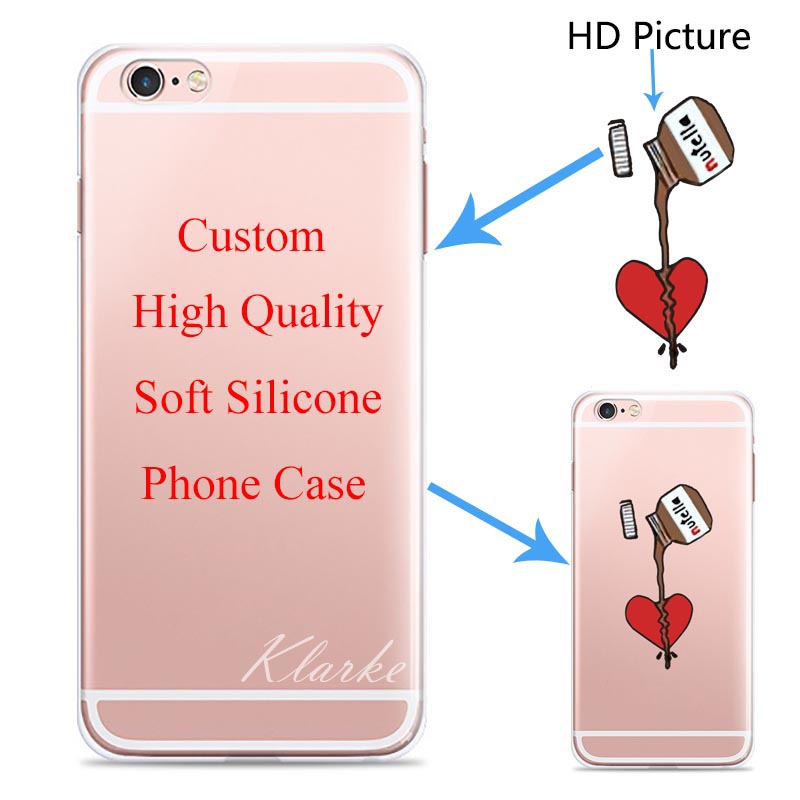 Custom Design DIY Transparente Silicone Case Cover For iPhone 6 6s 6plus Customized Printing Cell Phone Case(China (Mainland))