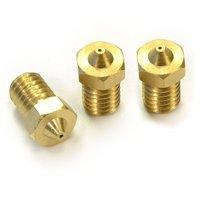 GTFS-3PCS Nozzle 0.5mm for RepRap 3D Printer Hot End compatible with E3D Golden